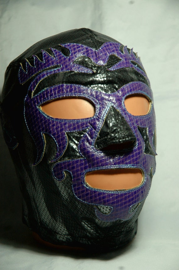 Mask Mano Negra Wrestling lycra and leather Mask