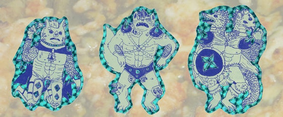 Dungeon Warrior Sticker Set (Aqua)