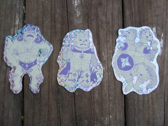 Dungeon Warrior Sticker Set
