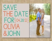 Simple Save the Date- Customizable (digital file) you print or add a printing package from my shop