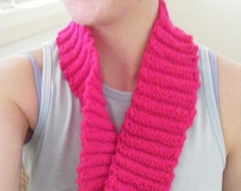 Hot Pink Infinity Scarf
