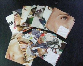 Pack of 10 up-cycled magazine envelopes