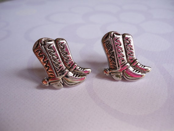 Boots Buttons Earrings