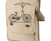 Messenger Bag Bicycle with Umbrella
