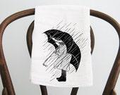 Flour Sack Towel Vintage Salt Girl