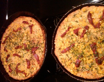 Sun Dried Tomato, Basil, Cheese & Corn Kernel Cornbread