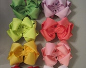 "Double Boutique Hairbow EXTRA LARGE 6"" Lots of Colors ((((Pick One))) Jumbo"