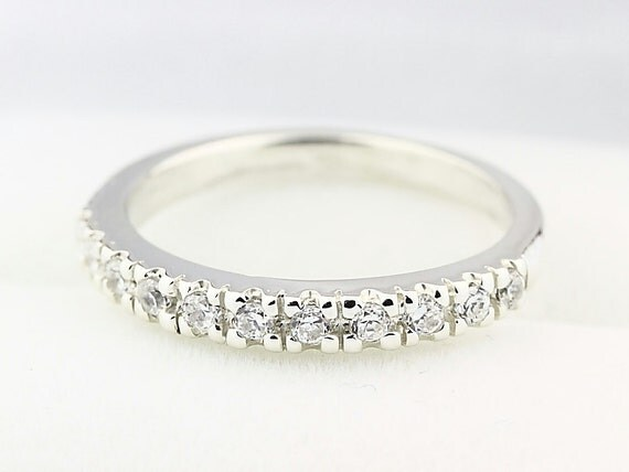14k White Gold  Natural Diamond Wedding Band Ring----Special Offer