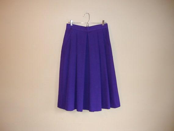 Purple SKIRT - Vintage Full MIDI Skirt