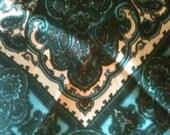 Turquoise Silk Scarf, Beautiful Design