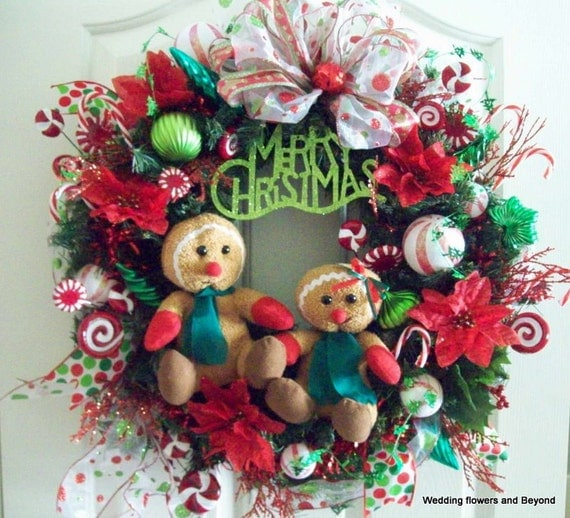 LaST CHaNCe CHRiSTMaS iN JuLy SaLe 12 HouRS oNLY CHRiSTMaS WReaTH GiNGeRBReaD MeN aND CaNDY CaNe CHRiSTMaS DeCoRaTioN WReaTH