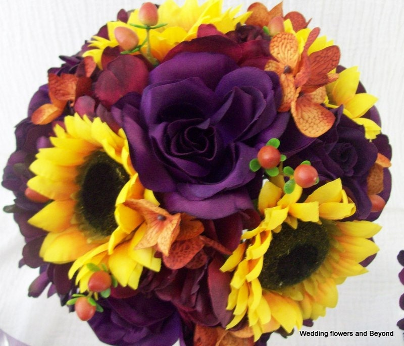 Fall Bridal Bouquets With Sunflowers Fall Bridal Bouquet Wedding