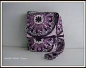 SALE Lilliput Fields Violet Satchel / iPad Tote Hand Sewn