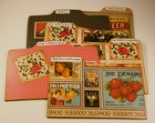 Recipe Divider Cards of Formica in Domestic Goddess Vintage Ad Style