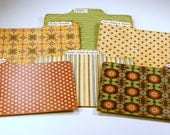 Divider Cards of Formica Set of 6 Italian Tile Style Custom 4x6 Recipe Divider Cards
