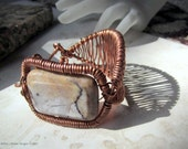 Copper Cuff with Marble Bracelet