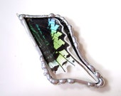 Real Butterfly Pendant, Green Banded Urania Moth