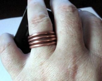 Copper Spring Ring - Natural
