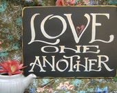Love One Another - Scripture Sign Wall Art home decor