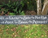 Hymn or favorite Bible passage designed on a Big, Bold Scripture Sign Wall Art Home Decor