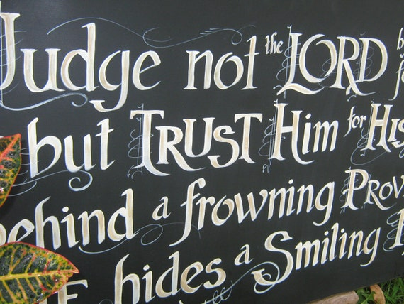 Your Favorite Hymn designed on a Big, Bold Scripture Sign for your special place