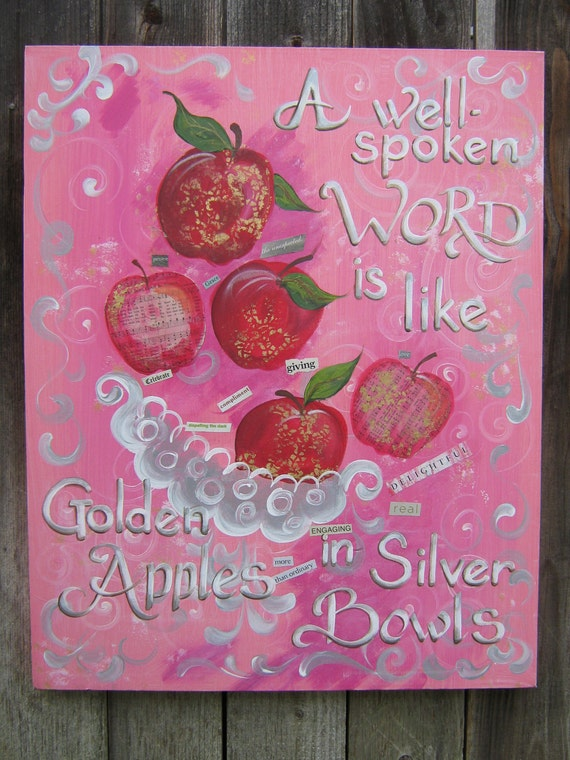Beautiful Words are Beautiful Wall Art Scripture Home Decor