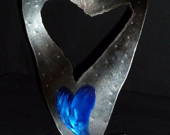 "Abstract Metal Heart Sculpture by Dennis Boyd (DB Designs - Creating Metal ""works of art"") Sculpture Frame 3"