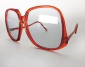super 70s red drop frame sunglasses