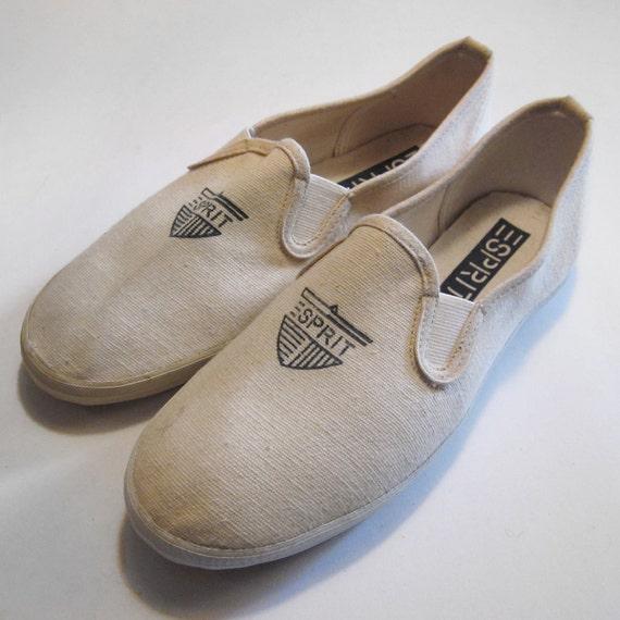 vintage esprit canvas slip on shoes 7 by saintannevintage
