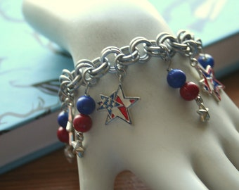 4th of July Star Charm Bracelet