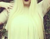 LENA QUIST Blonde Human Hair T-Shirt - SALE - Last One