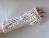 PATTERN Lace and Cable Mitts, Pdf Knitting Pattern