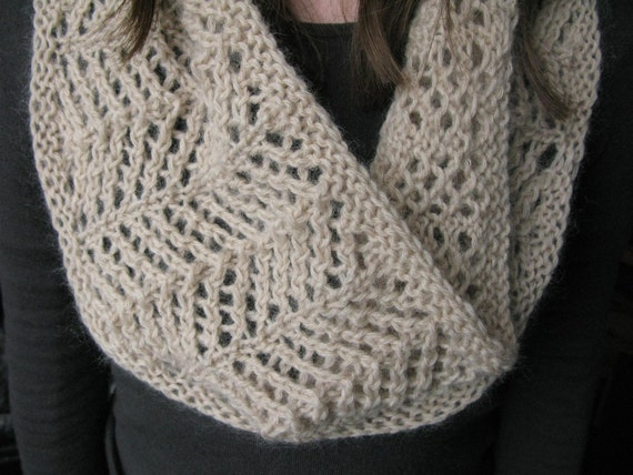 PATTERN Lace Cowl pdf Knitting Pattern / Easy Lace knitting