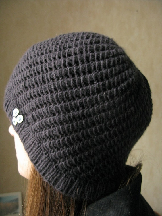 Cloche Hat Pattern Knitting : SALE PATTERN Lace cloche hat pdf knitting pattern