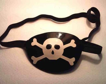 Latex Skull & Crossbones Eyepatch