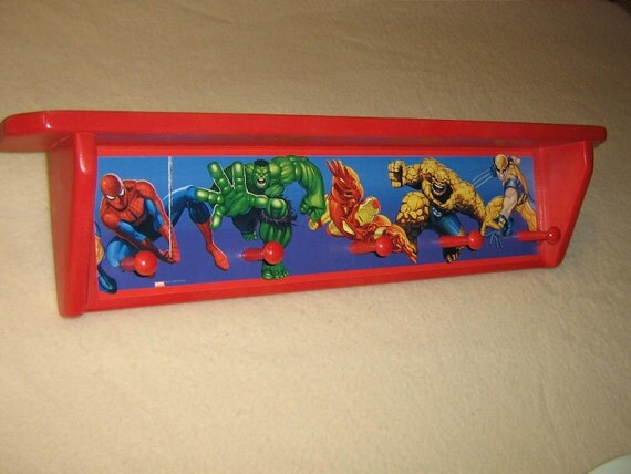 Kid's corner coat rack ( Marvels Super Heroes, with shelf )