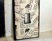 Sheet Music Light Switch Plate