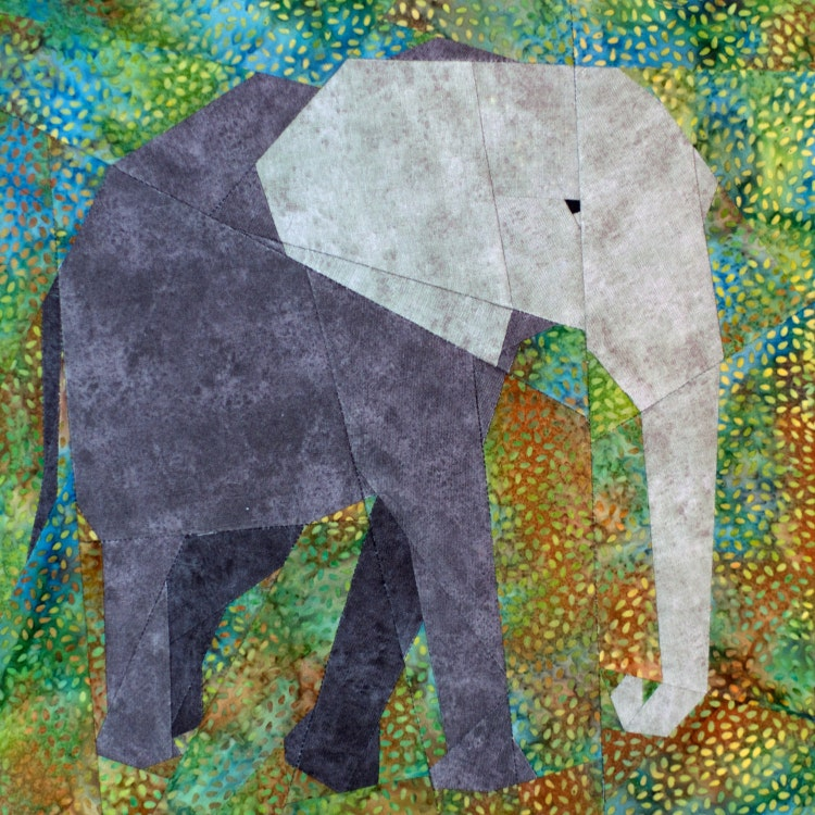 African Elephant Paper Piecing Quilt Pattern Pdf By Schenleyp