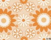 Happy Mochi Yum Yum, Fiji in orange, 1/2 yard