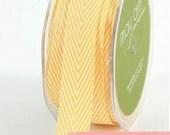 chevron twill tape, yellow, 2 yards