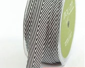 chevron twill tape,black, 2 yards
