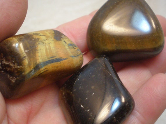 Blue and Brown Tiger Eye Stones, Natural Tiger Eye, Good Decision Making, Creativity, Abundance