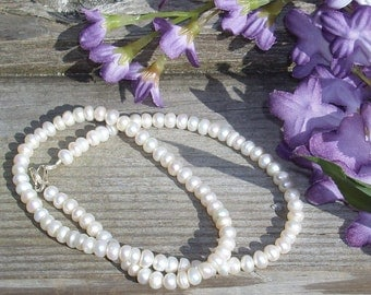 Creamy Button Freshwater Pearl Necklace P 305