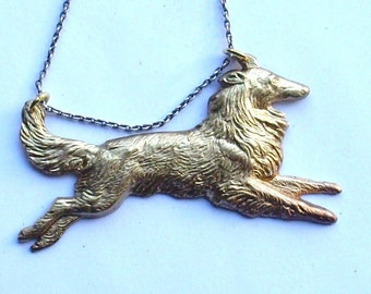 Mixed Metal Collie-Sheltie Necklace