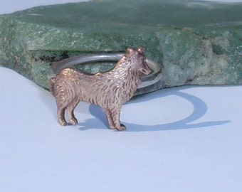 Collie-Sheltie Ring -Brass and Sterling Silver- Made to Order