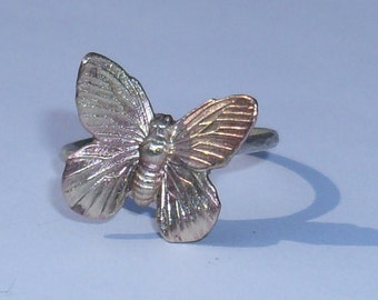 Butterfly Ring -Brass and Sterling Silver- Made to Order