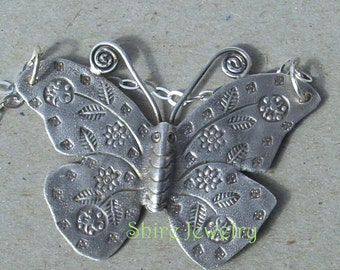 Large Decorative Butterfly Necklace