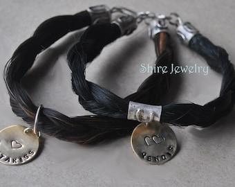 Your Custom Horse Hair Bracelet in Sterling Silver