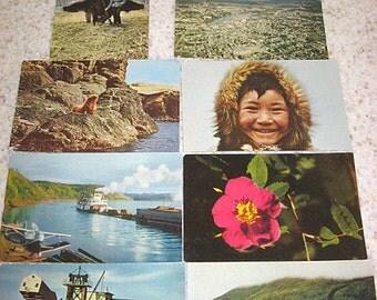 8 vintage alaskan postcards, color photographs Mirro - Krome Cards