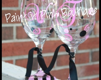 Personalized Wineglass w/ extra design on base